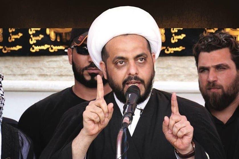 قیس الخزعلی رهبر گروه شبهنظامی عصائب اهل الحق