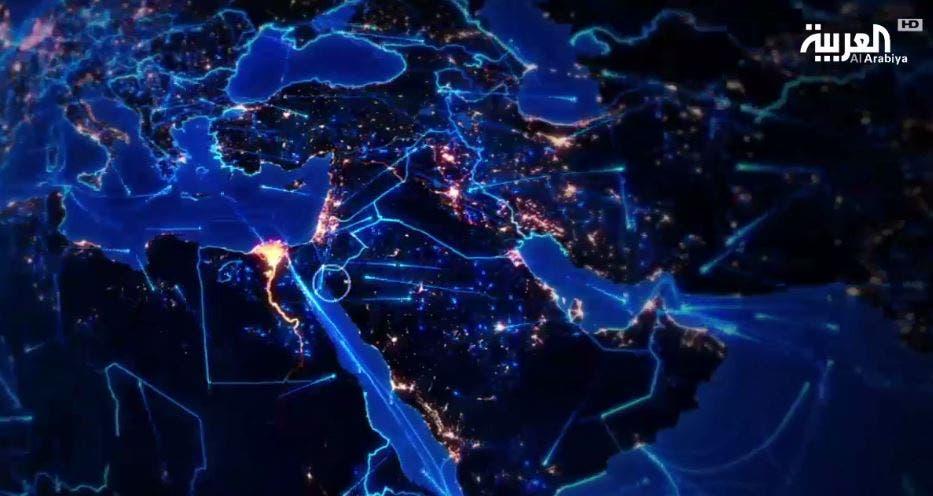 يقام مشروع نيوم على مساحة 26,500 كيلومتر مربع تربط السعودية مع مصر والأردن