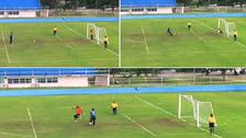 عجيبة كروية في فيديو لآخر ضربة جزاء بين فريقين متعادلين