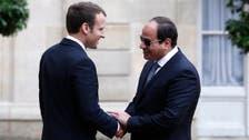مصری صدر السیسی کی ماکروں سے دہشت گردی مخالف جنگ پر بات چیت