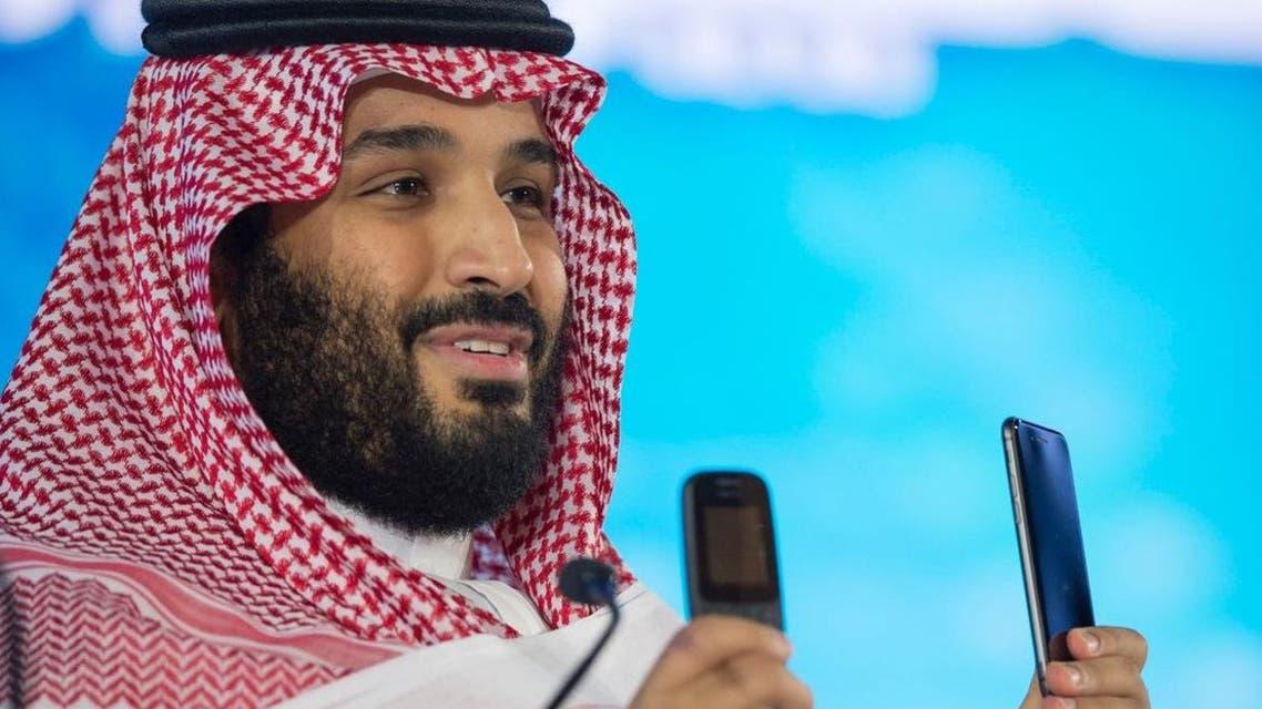 الأمير محمد بن سلمان وهاتفين