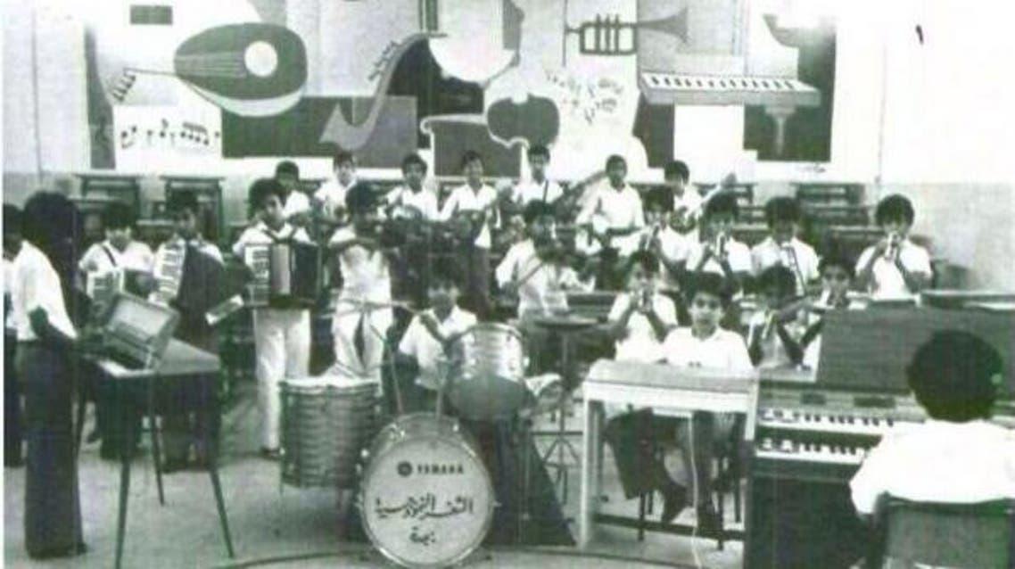 صورة عمرها 57 عاماً لحصة موسيقية في مدرسة سعودية