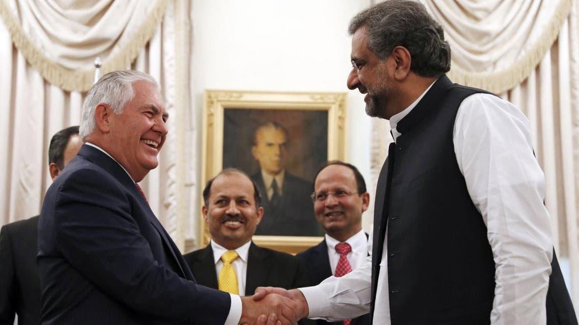 Tillerson with Pakistani Premier