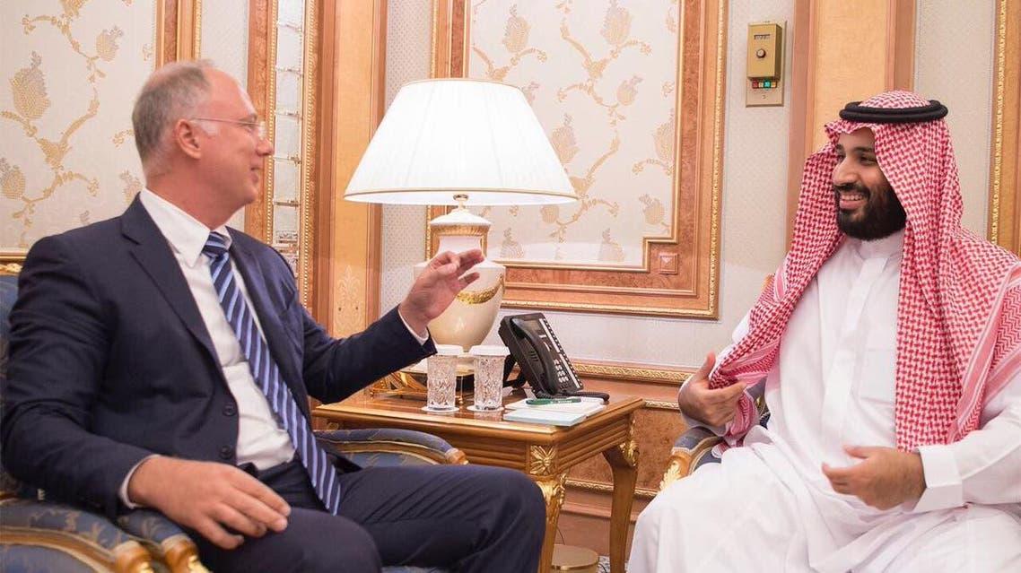 ولي العهد يجتمع مع مع رئيس صندوق الاستثمارات الروسي