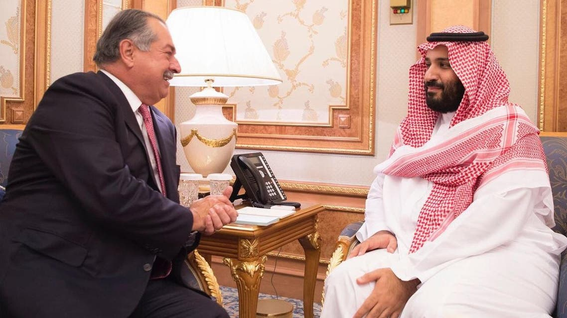 Saudi crown prince discusses with Dow, Arianespace on investment opportunities