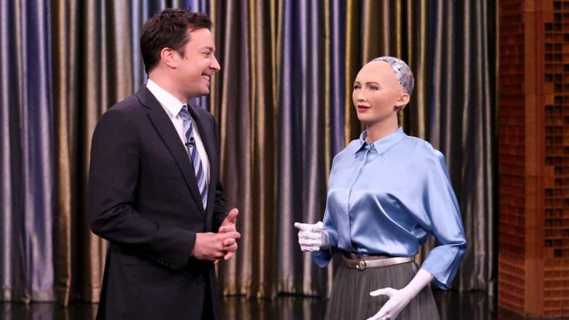 Sophia, an artificially intelligent robot