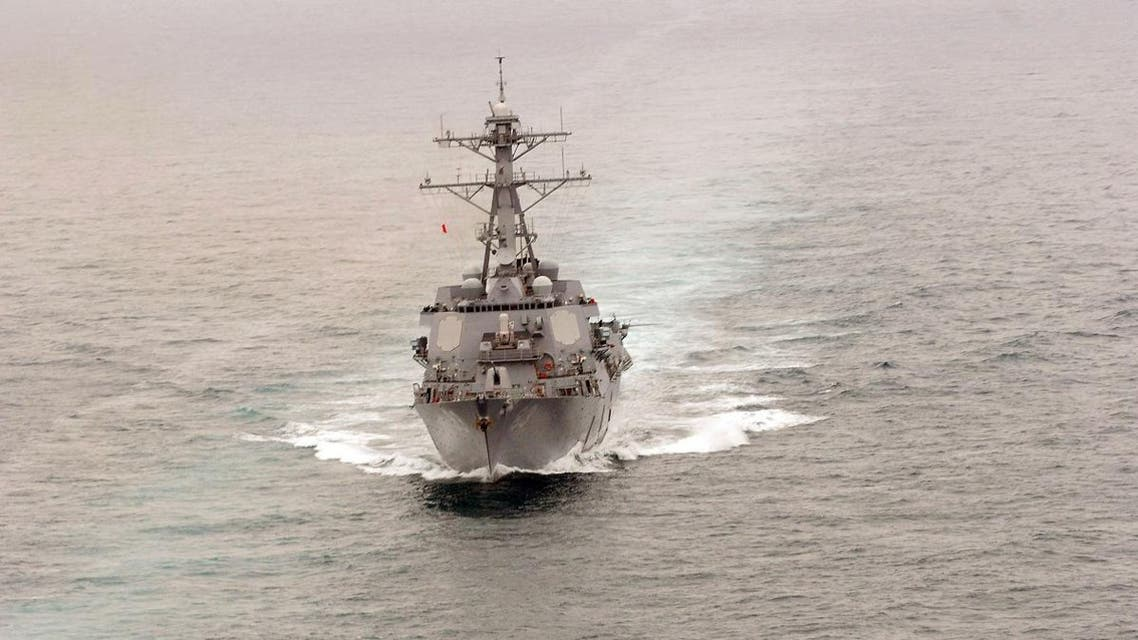 This file picture released on September 28, 2008 by the US Navy shows the Arleigh Burke-class destroyer USS Howard (DDG 83) steams through the Pacific Ocean on April 04, 2008. (AFP)
