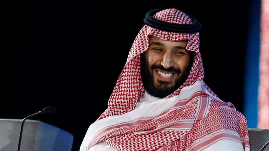 Saudi Crown Prince Mohammed bin Salman and Masayoshi Son, SoftBank Group Corp. Chairman and CEO, attend the Future Investment Initiative conference in Riyadh, Saudi Arabia October 24, 2017. reuters