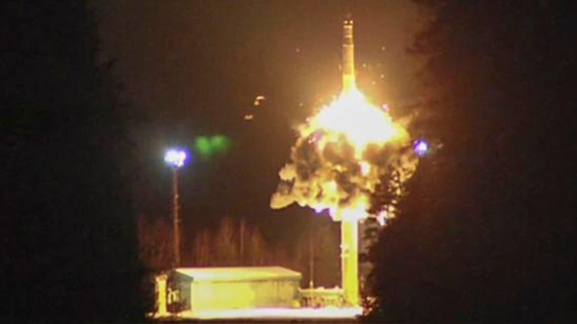 تجربة اطلاق صاروخ روسيا نووي