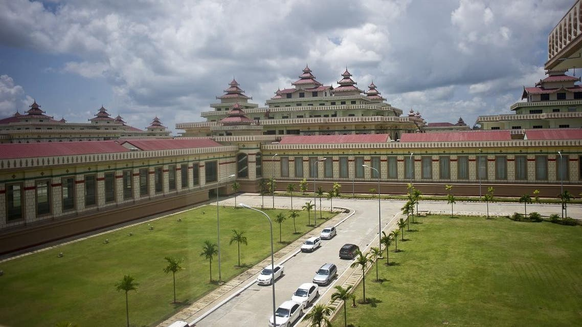 Myanmar's Union Parliament building is seen in Naypyidaw on August 25, 2015. (AFP)