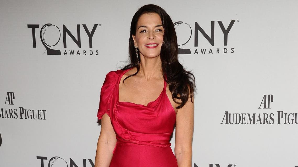 Annabella Sciorra arrives at the 65th annual Tony Awards, Sunday, June 12, 2011 in New York. (AP)