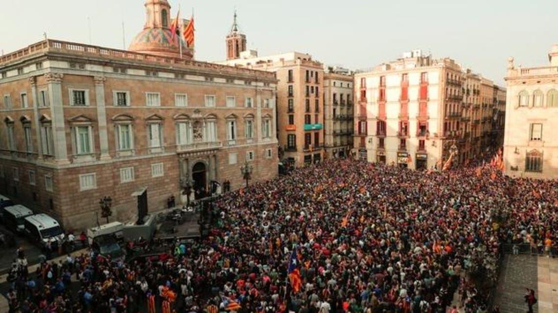 تظاهرة مؤيدة للانفصال في برشلونة الجمعة