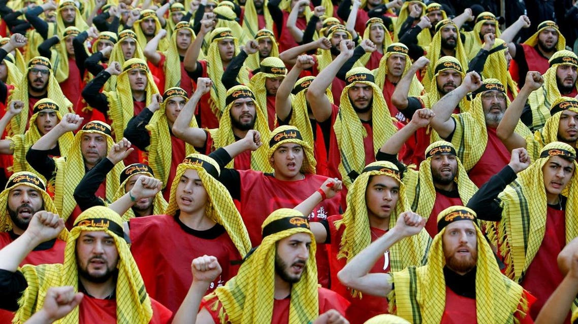 Supporters of Lebanon's Hezbollah party parade to mark the last day of Ashura ceremony in Beirut. (Reuters)