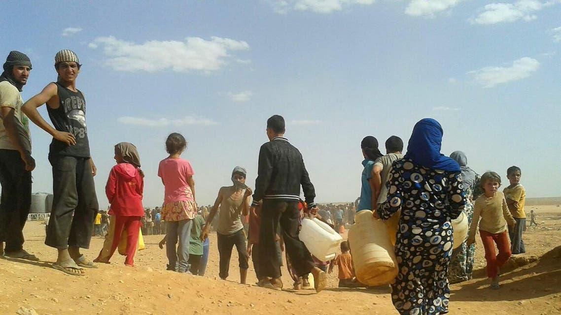 Rukban refugee camp in Jordan's northeast border with Syria. AP