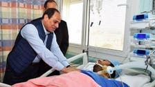 Egypt's President al-Sisi visits officer liberated from terrorists