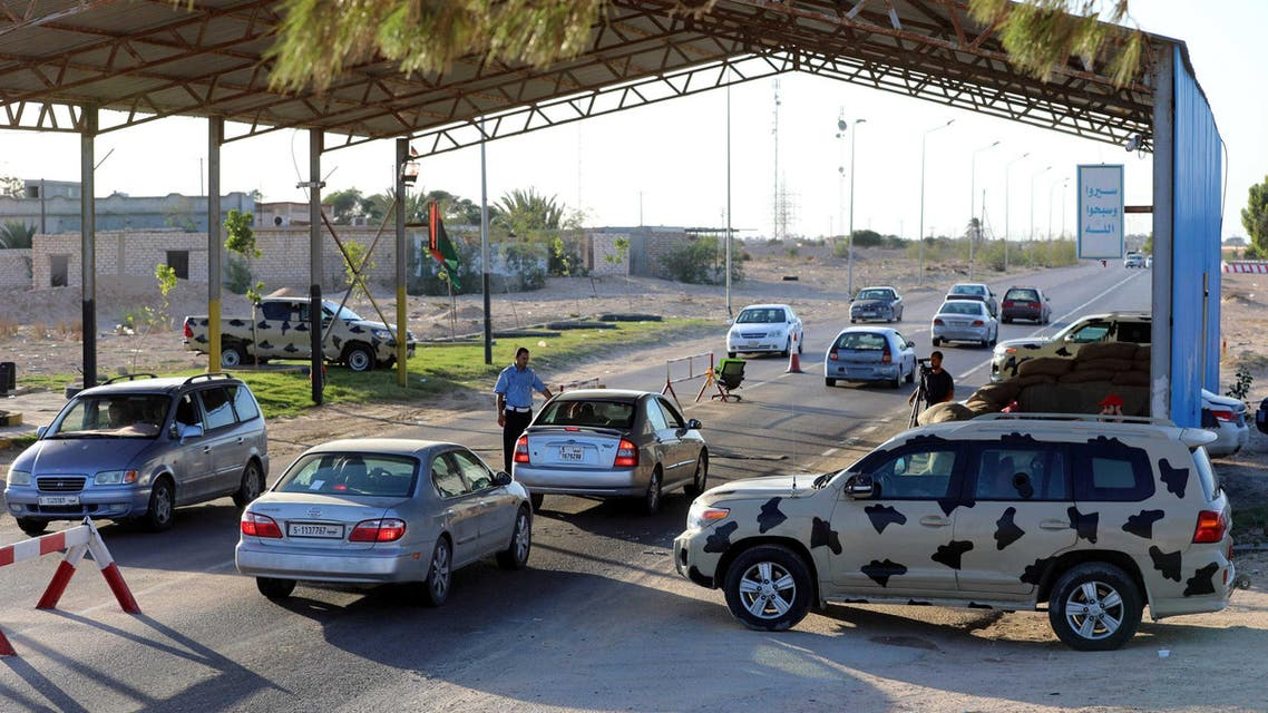 Cars are seen at a checkpoint near Mellitah oil and gas plant near Zuwarah, Libya, October 10, 2017. Picture taken October 10, 2017. REUTERS/Hani Amara