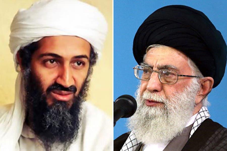 أسامة بن لادن وخامنئي