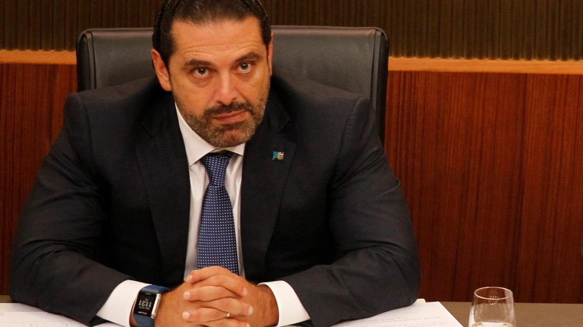 Lebanon's Prime Minister Saad al-Hariri attends a general parliament discussion in downtown Beirut, Lebanon October 18, 2017. (Reuters)