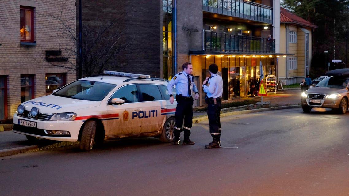 الشرطة النرويجية في موقع حادث طعن