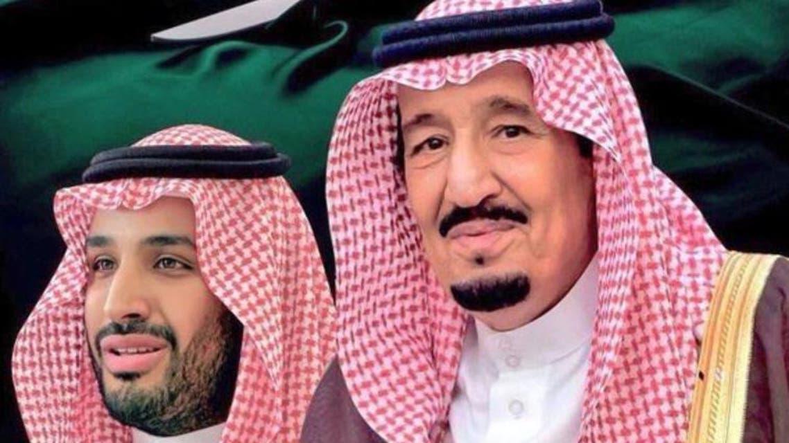 الملك سلمان وولي العهد الأمير محمد