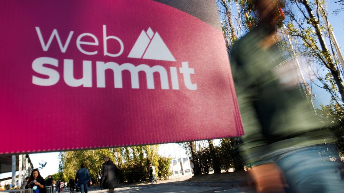 A sign of Web Summit is seen before the inauguration of Web Summit, Europe's biggest tech conference, in Lisbon, Portugal, November 6, 2017. (Reuters)