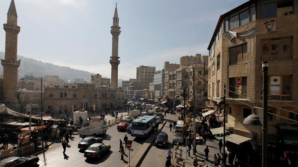 A general view of the downtown area of the Jordanian capital near the Grand Husseini mosque in Amman. (File photo: Reuters)