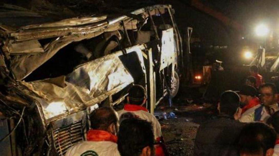مقتل 14 وجرح 24 بحادث سير مأساوي في إيران