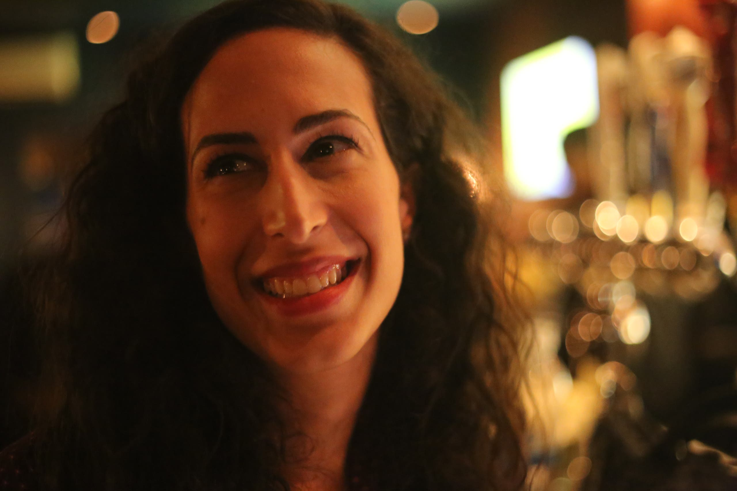 Atheer Yacoub, a regular on the New York City comedy circuit, has been doing the festival for four years. (Phoebe Leila Barghouty)