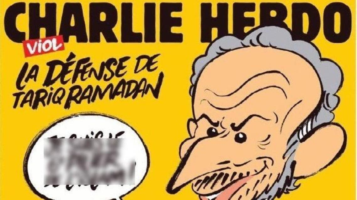 The new cover of French satirical weekly Charlie Hebdo depicts Oxford professor Tariq Ramdan with a huge erection in its edition last Wednesday, saying: (Twitter.com/Twitter.com)