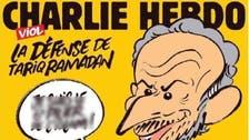 Charlie Hebdo gets fresh death threats over cartoon of Tariq Ramadan