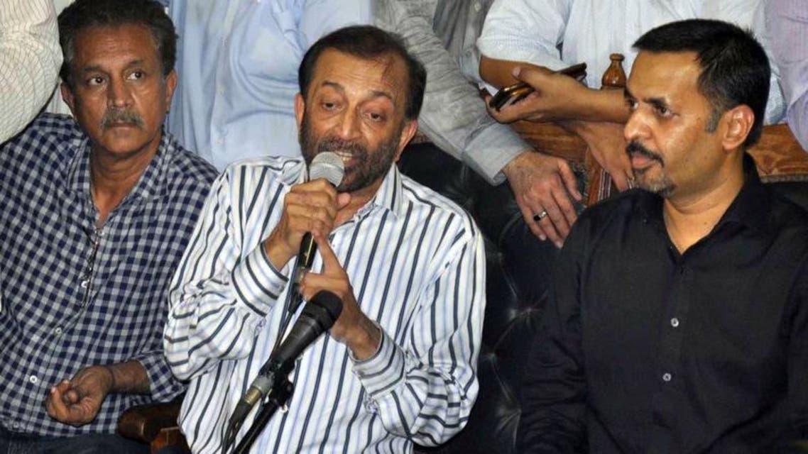 دائیں سے: مصطفیٰ کمال، ڈاکٹر فاروق ستار اور کراچی کے میئر وسیم اختر