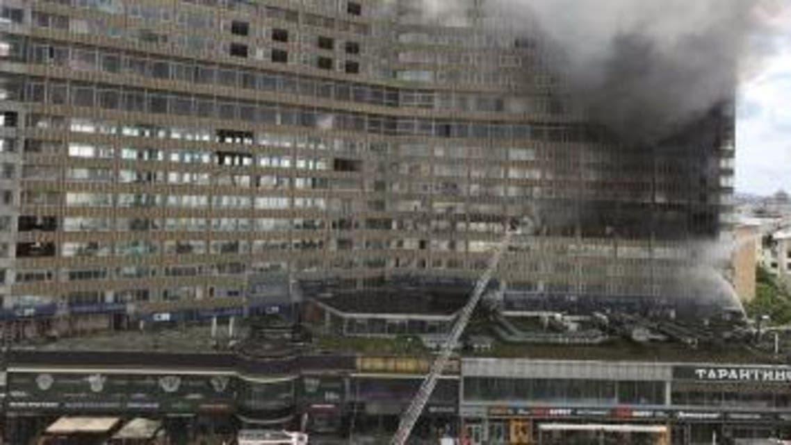 حريق في موسكو