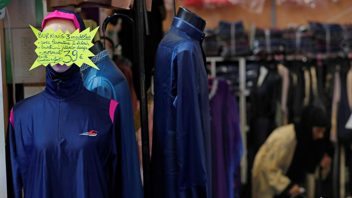 A stand displays women's clothes, including burkini's, during the 34th annual meeting of French Muslims. (Reuters)