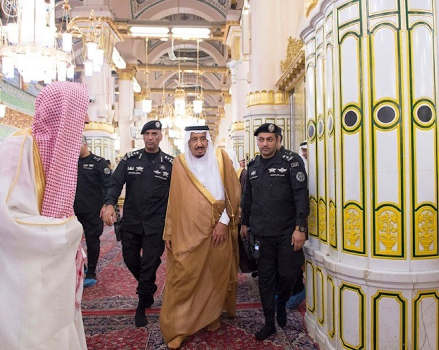 king salman in Madinah - spa