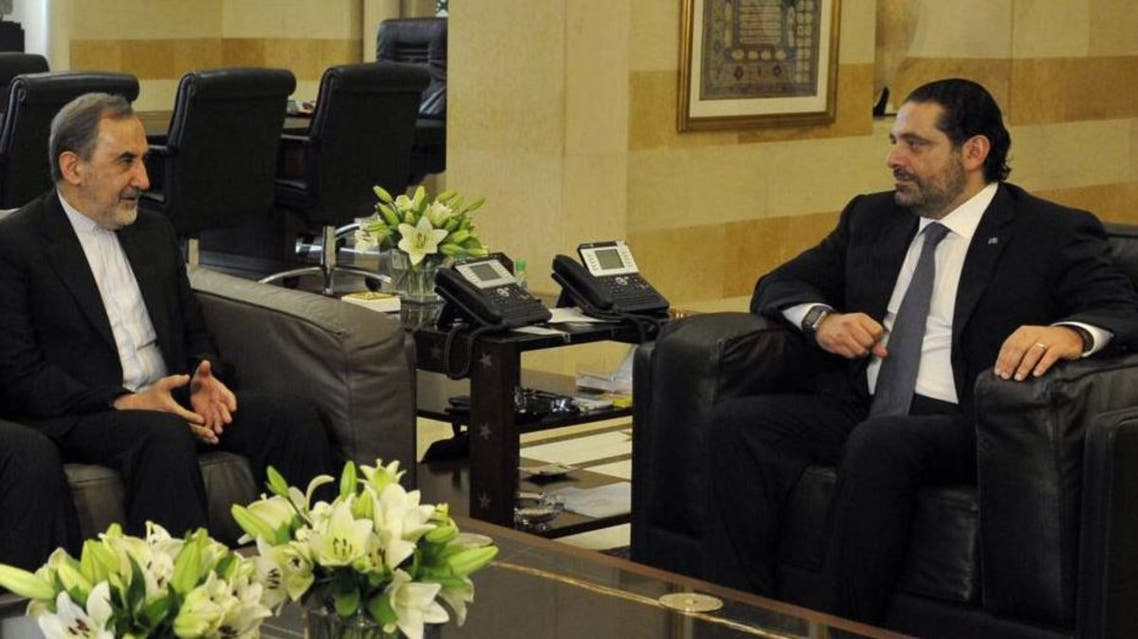 من لقاء الحريري مع ولايتي