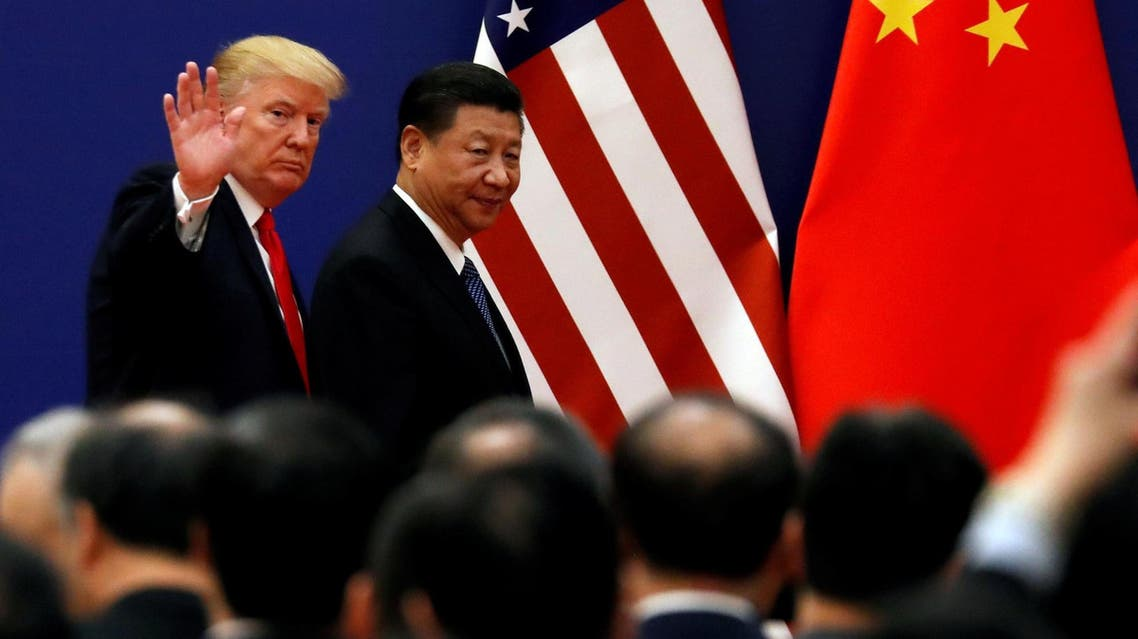 Donald Trump and President Xi Jinping meet business leaders at the Great Hall of the People in Beijing, China, November 9, 2017. (Reuters)