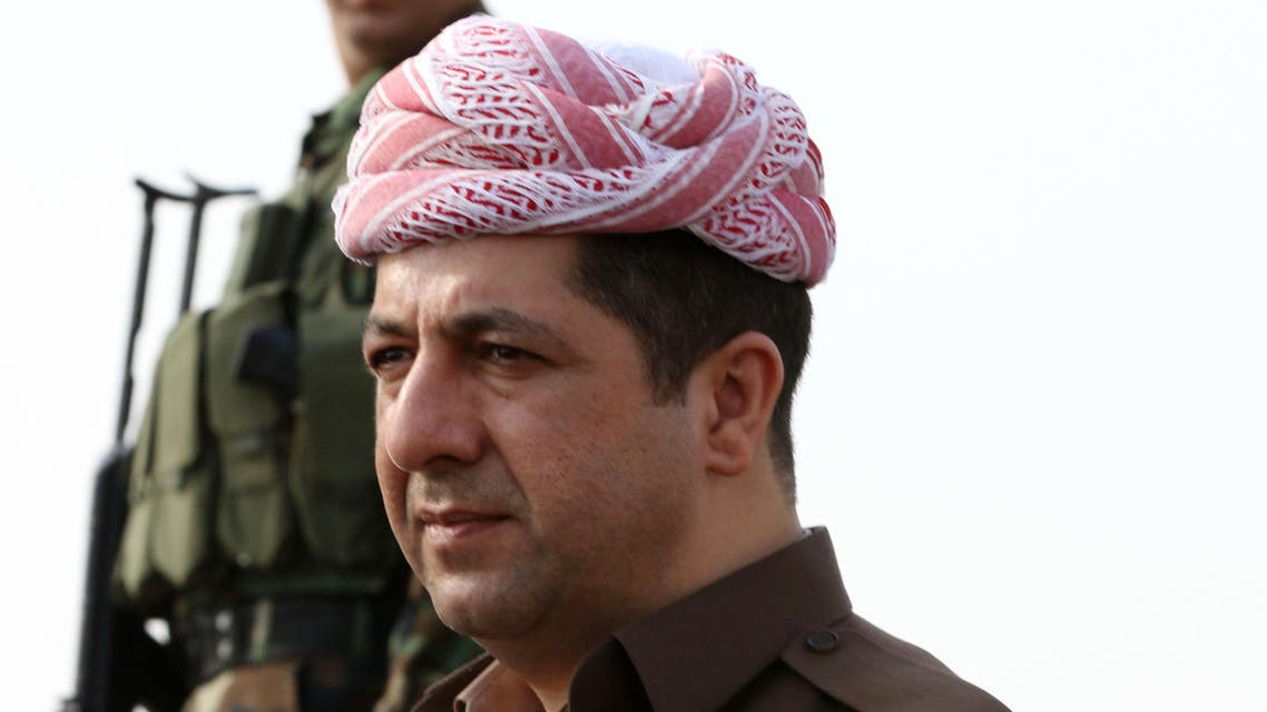 Masrour Barzani, the head of the Kurdistan Regional Security Council, looks on, on October 27, 2016 on the top of Mount Zardak, where Iraqi Kurdish peshmerga fighters hold a position during an operation against Islamic State (IS) group jihadists to retake the main hub of Mosul, located some 25 kilometres from Mount Zardak. Iraqi security forces and Kurdish peshmerga fighters are pushing toward Mosul along several axes and have made relatively quick progress as they approach Mosul, Iraq's second city. SAFIN HAMED / AFP