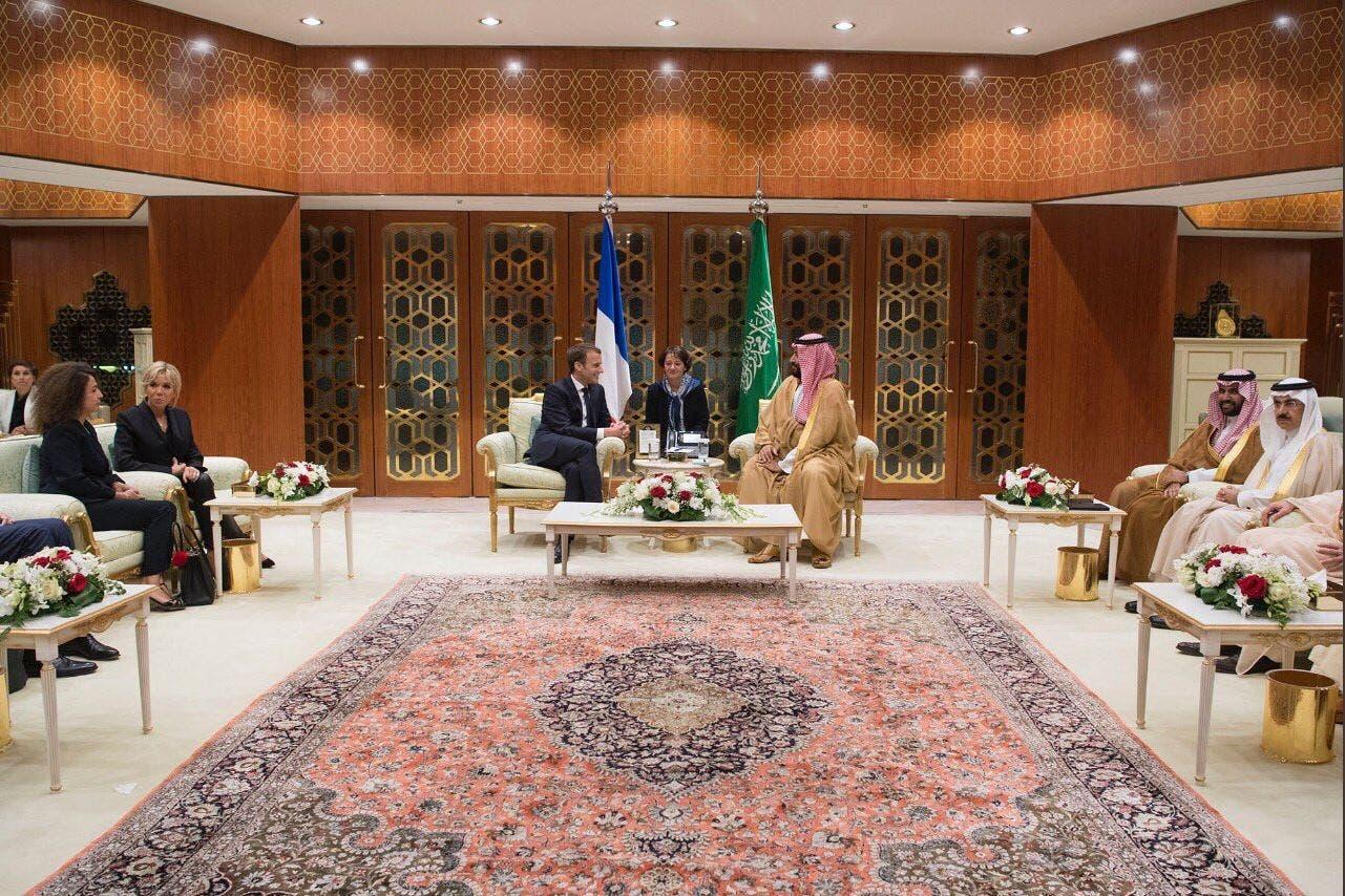 الأمير محمد بن سلمان والرئيس ماكرون
