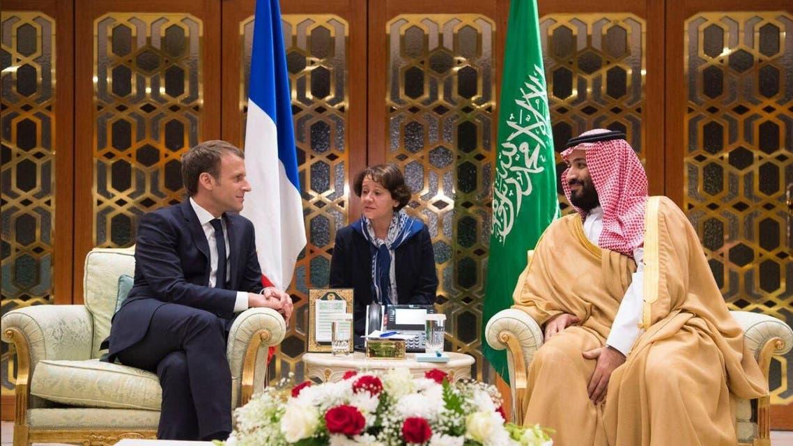 الأمير محمد بن سلمان و إيمانويل ماكرون 3