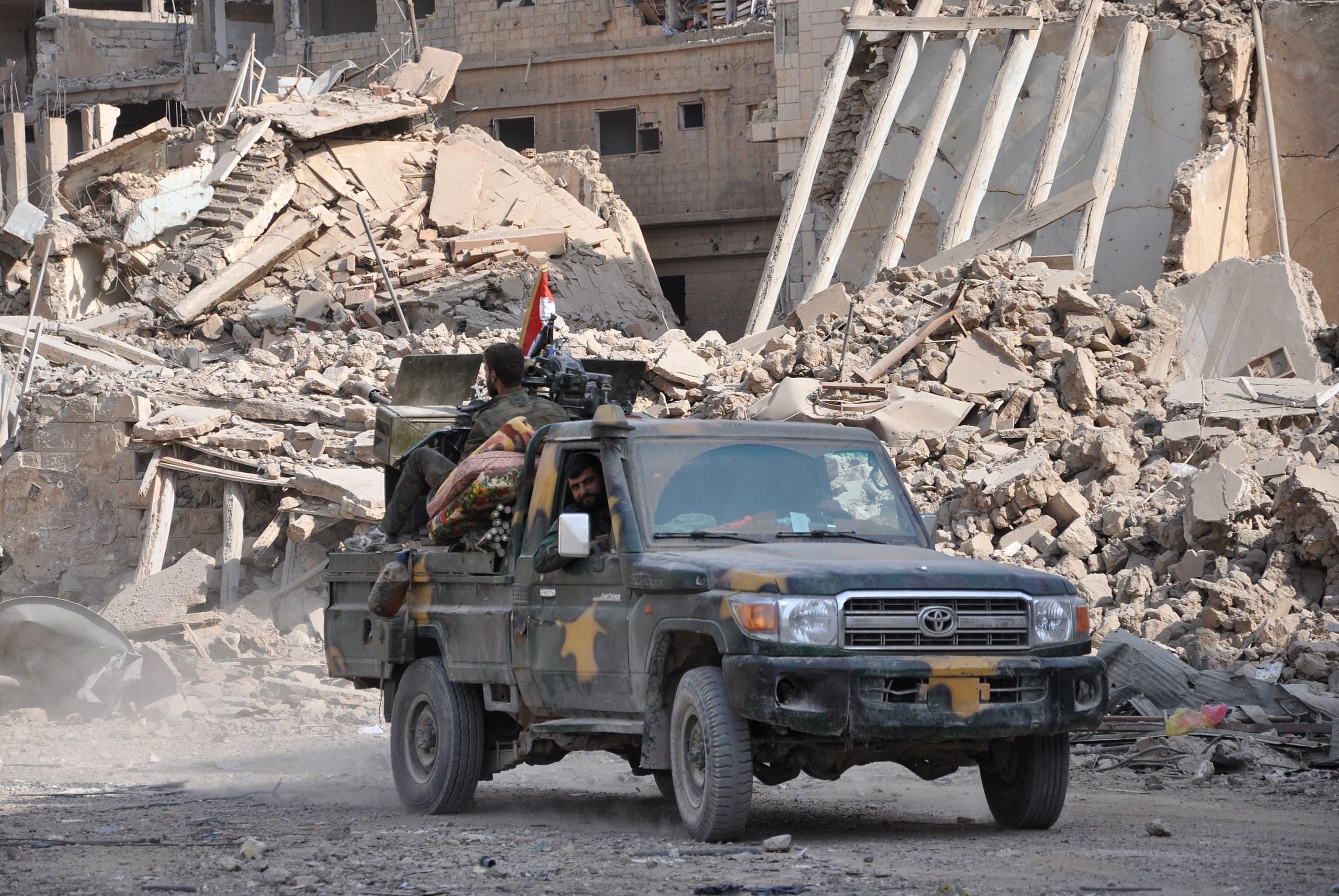 قوات النظام شرق دير الزور
