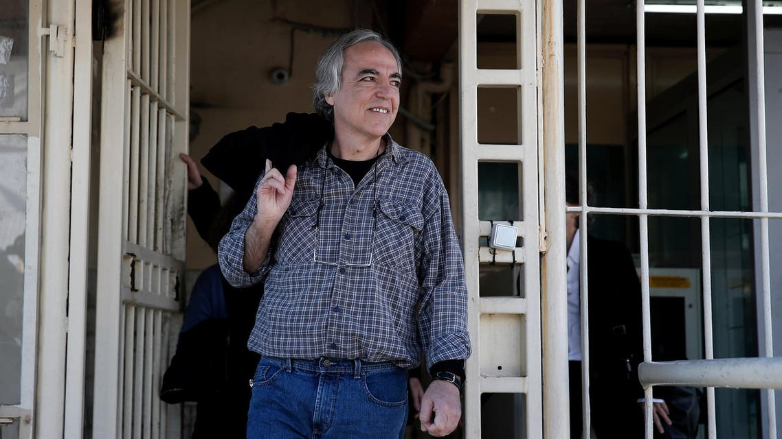Dimitris Koufodinas, a leading member of guerrilla group November 17, exits Koridallos prison for a two-day leave, in Athens, Greece, November 9, 2017. REUTERS/Costas Baltas