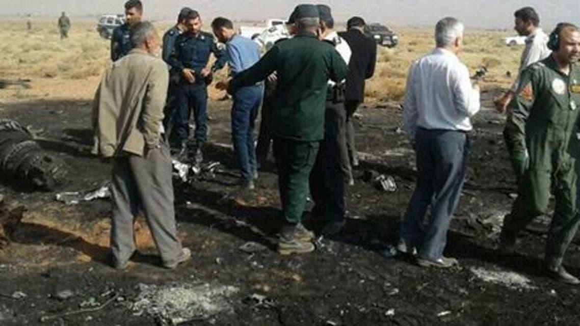 سقوط طائرة ايران