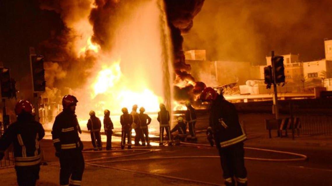 البحرين حريق أنبوب نفط