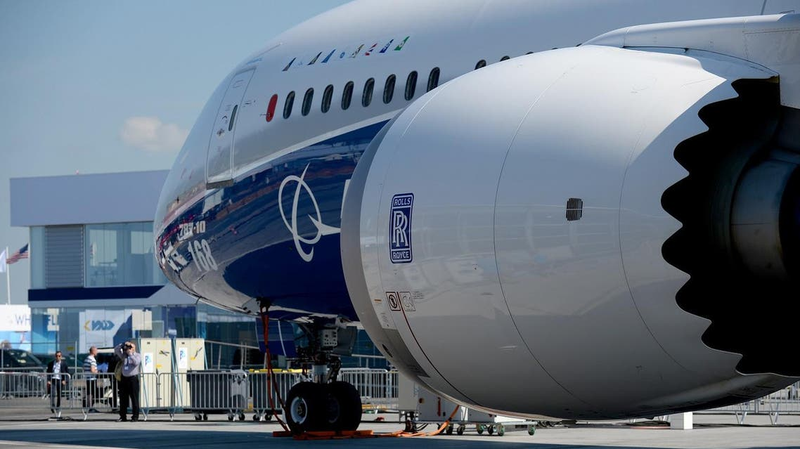 A Boeing 787-10 Dreamliner test plane is presented on the Tarmac of Le Bourget on June 18, 2017 on the eve of the opening of the International Paris Air Show. (AFP)