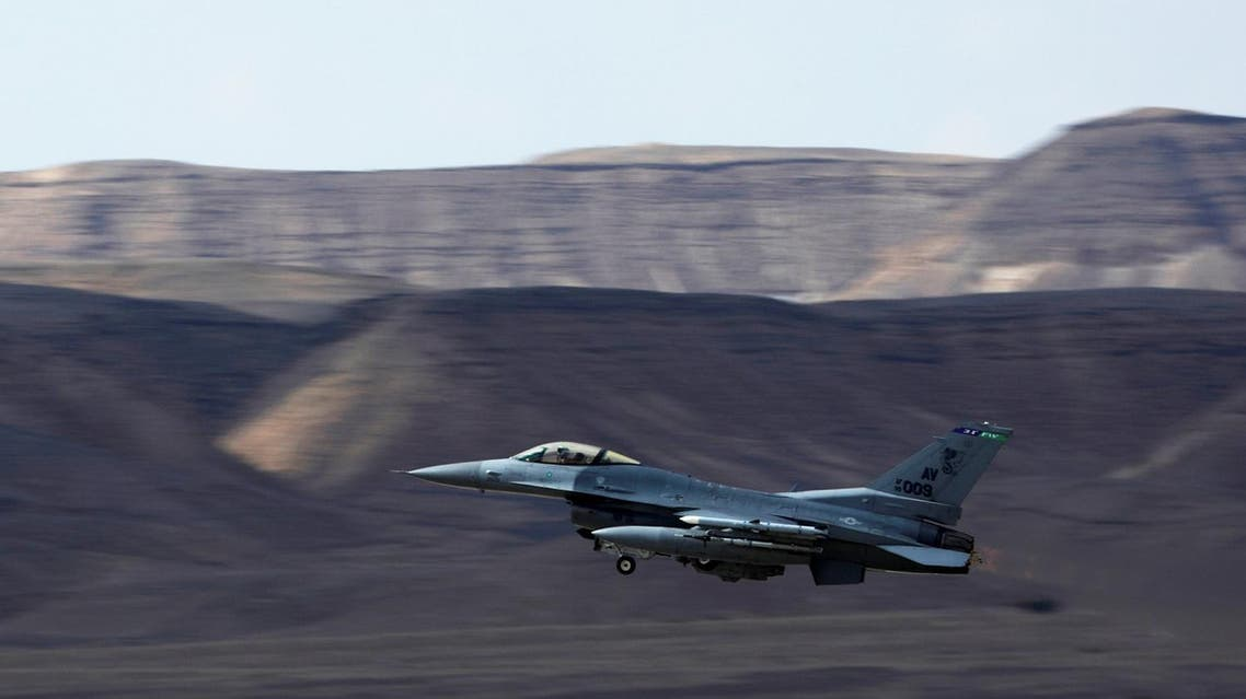 A US Air Force F-16 takes off during a training exercise. (Reuters)