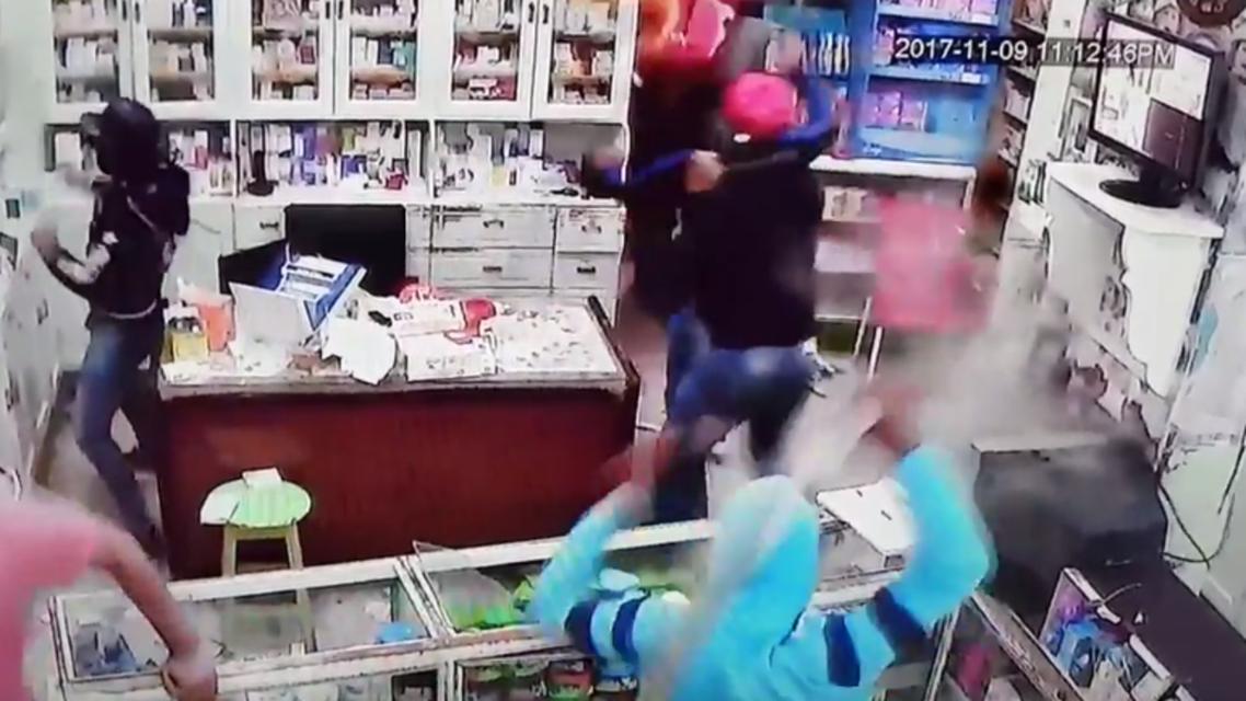 هجوم على صيدلية
