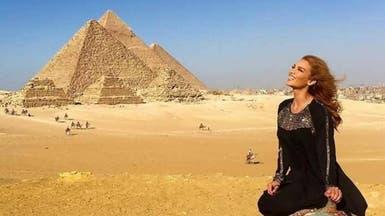 """بعد لويس فونسي.. بطلة """"ديسباسيتو"""" وسط آثار مصر"""