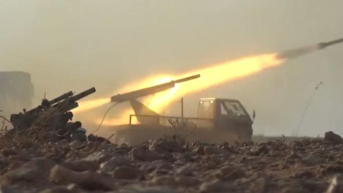 من محيط البوكمال (آلية لقوات النظام السوري)