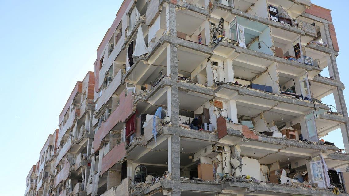 A damaged building is seen following an earthquake in Sarpol-e Zahab county in Kermanshah. (Reuters)