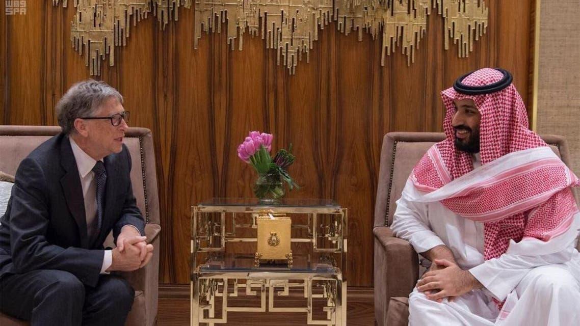 Mohammed bin Salman Bill Gates SPA